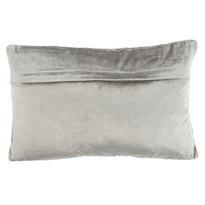 Wyona Throw Pillow Color: Light Grey/Silver, Size: 12 H x 20 W