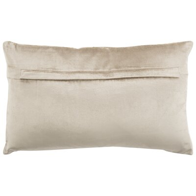 Wyona Throw Pillow Color: Beige/Gold, Size: 12 H x 20 W
