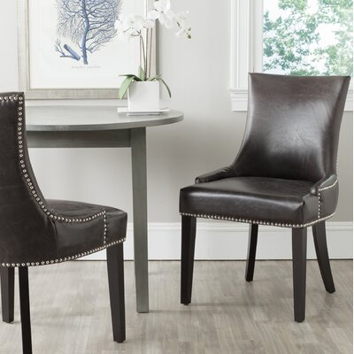 Carraway Upholstered Dining Chair Color: Antique Brown