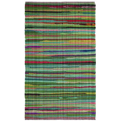 Hawley Hand-Woven Green Area Rug Rug Size: Rectangle 26 x 4