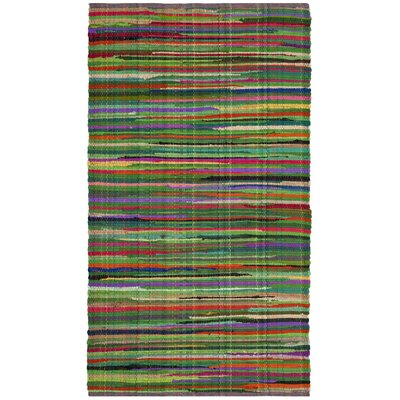 Hawley Hand-Woven Green Area Rug Rug Size: Rectangle 3 x 5