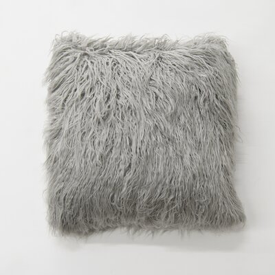 Robichaud Faux Fur Throw Pillow Color: Gray