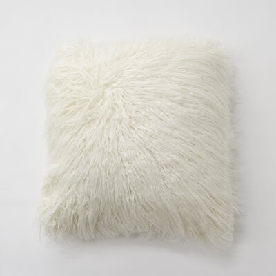 Robichaud Faux Fur Throw Pillow Color: Ivory