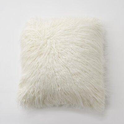 Robichaud Faux Fur Throw Pillow Color: Ivory