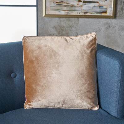 Owlswick Square Fabric Throw Pillow Color: Bisque
