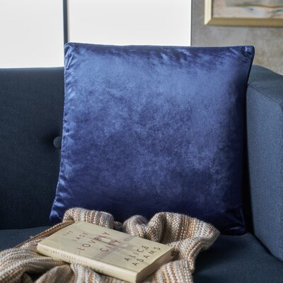 Owlswick Square Fabric Throw Pillow Color: Navy Blue