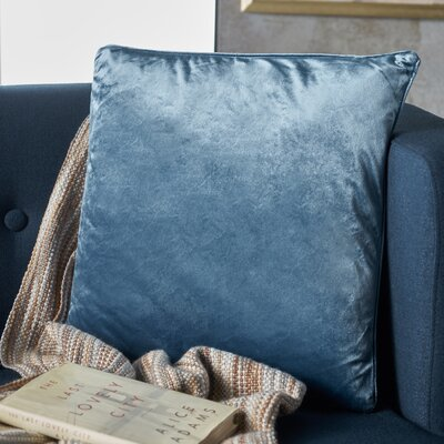 Owlswick Square Fabric Throw Pillow Color: Aqua