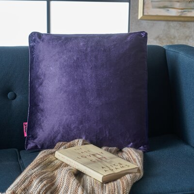 Owlswick Square Fabric Throw Pillow Color: Plum