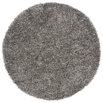 Delmon Platinum/Ivory Area Rug Rug Size: Round 7