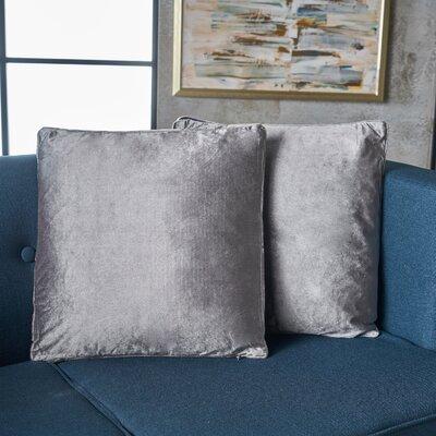 Owlswick Fabric Throw Pillow Color: Smoke