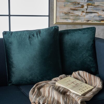 Owlswick Fabric Throw Pillow Color: Teal