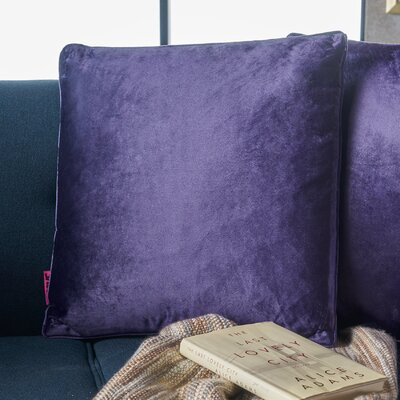 Owlswick Fabric Throw Pillow Color: Plum
