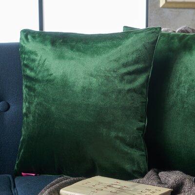 Owlswick Fabric Throw Pillow Color: Emerald