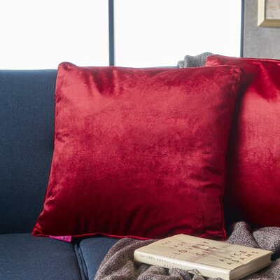 Owlswick Fabric Throw Pillow Color: Berry