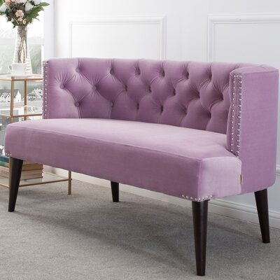 Kaysen Settee Upholstery: Lavender