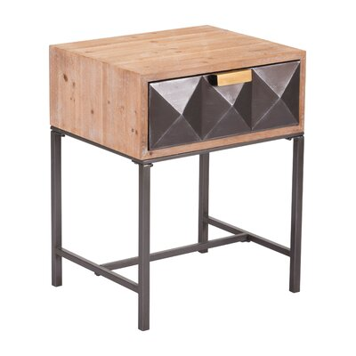 Caledonia End Table with Storage