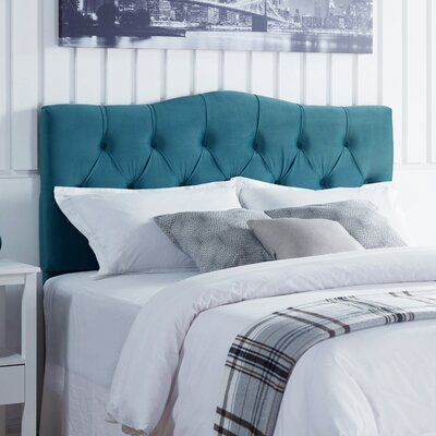Seo Upholstered Panel Headboard Upholstery: Ice Blue Velvet, Size: King/California King