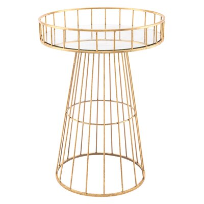 Renard Metal Round Tray Table
