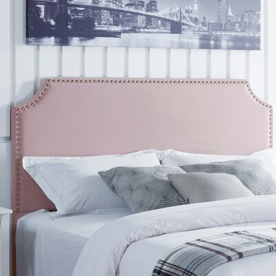 Hawtree Upholstered Panel Headboard Upholstery: Blush Velvet, Size: King/California King