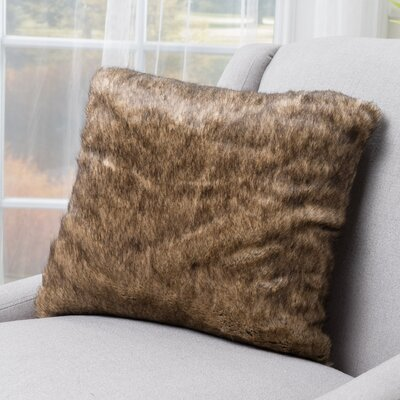 Stony Stratford Plush Fabric Throw Pillow Color: Dark Brown
