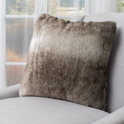 Stony Stratford Plush Fabric Throw Pillow Color: Ash White