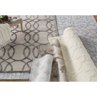 Fabian Hand Tufted Wool Cream Area Rug Rug Size: Rectangle 9 x 12