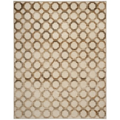 Darcie Stone/Cream Area Rug Rug Size: Rectangle 8 x 10