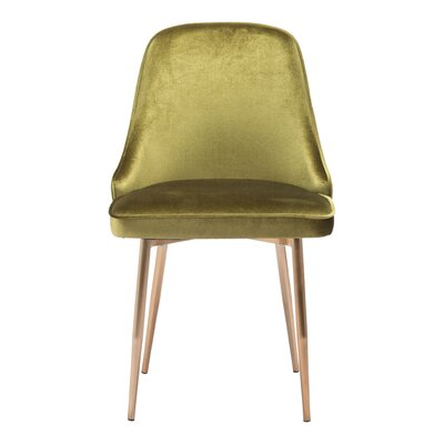 Abdo Upholstered Dining Chair Upholstery Color: Green