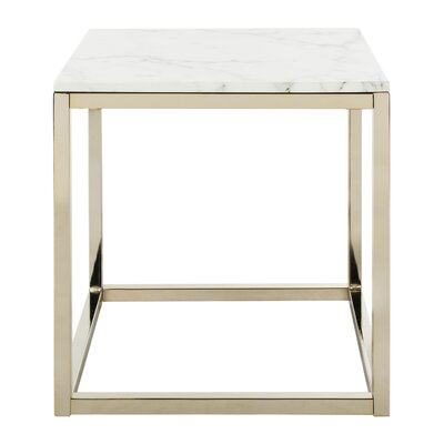 Katara End Table Table Base Color: Brass