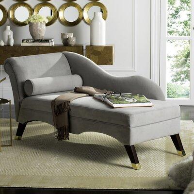 Melania Chaise Lounge Upholstery: Grey