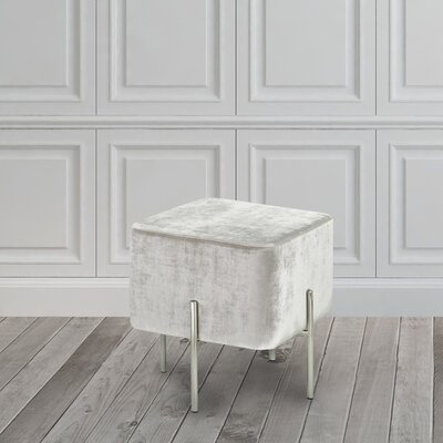 Britannia Cube Ottoman Color: Gray
