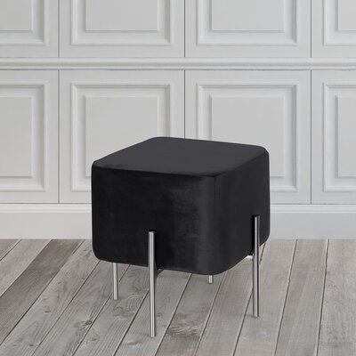 Britannia Cube Ottoman Color: Black