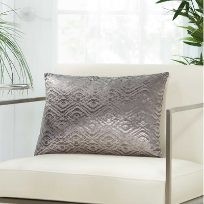 Tadashi Rectangular Velvet Lumbar Pillow Color: Dark Grey