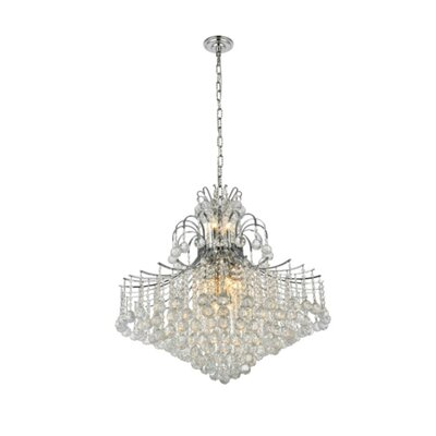 McAllen 15-Light Crystal Chandelier Finish: Chrome, Crystal Trim: Strass Swarovski