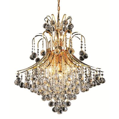McAllen 15-Light Crystal Chandelier Finish: Gold, Crystal Trim: Spectra Swarovski