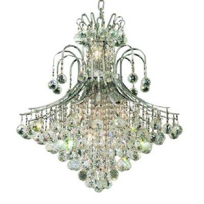 McAllen 15-Light Crystal Chandelier Finish: Chrome, Crystal Trim: Elegant Cut
