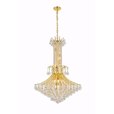 McAllen 16-Light Crystal Chandelier Finish: Gold, Crystal Trim: Elegant Cut