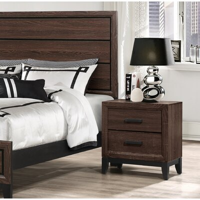 Jerold 2 Drawer Nightstand Color: Brown