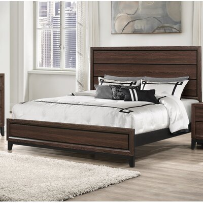 Jerold Panel Bed Color: Brown, Size: Queen