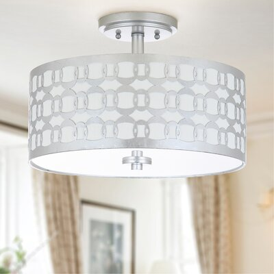Bourbeau 3-Light Semi Flush Mount Finish: Silver