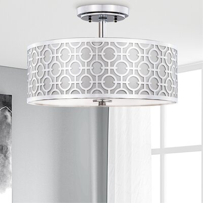 Froman Chain Link 3-Light Semi Flush Mount