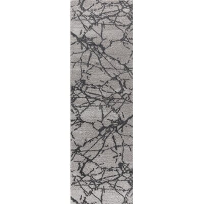Shores Gray Area Rug Rug Size: Runner 2 x 8