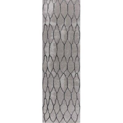 Shores Gray Area Rug Rug Size: Runner 2 x 8