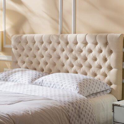 Bennett Queen Upholstered Panel Headboard Color: Beige