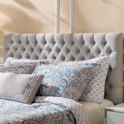 Bennett Queen Upholstered Panel Headboard Color: Light Gray
