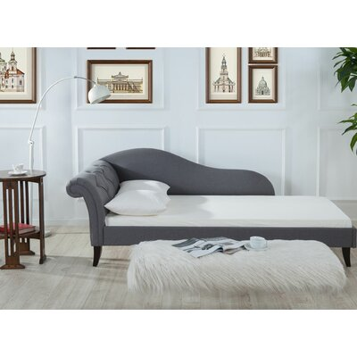 Laylah Chaise Sofa Bed Sleeper Upholstery: Seeple Gray