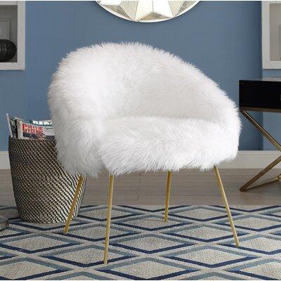 Tiffany Barrel Chair Color: White