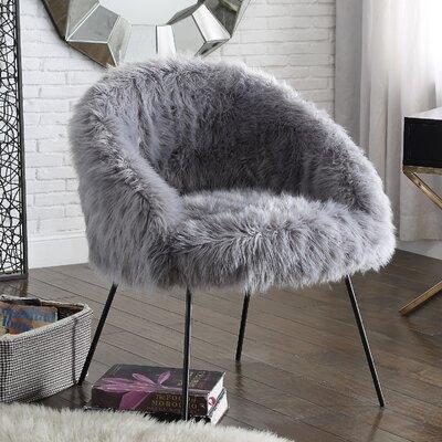 Tiffany Barrel Chair Color: Gray