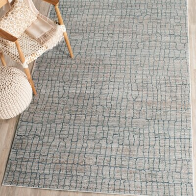 Boathaven Gray/Blue Area Rug Rug Size: Rectangle 4 x 6