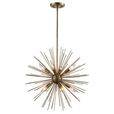 Hellwig 9-Light Sputnik Chandelier